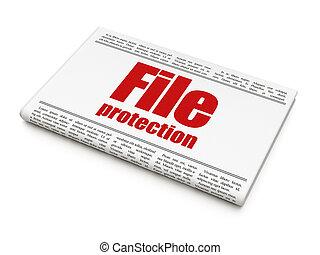 krant kop, bescherming, concept:, bestand