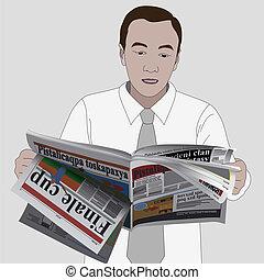 krant, man