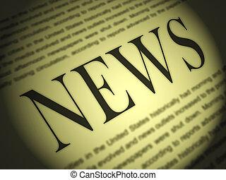 krant, optredens, media, journalistiek, kranten, en,...