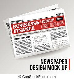 krant, realistisch, economisch