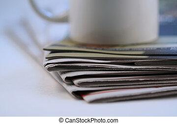 krant, stapel
