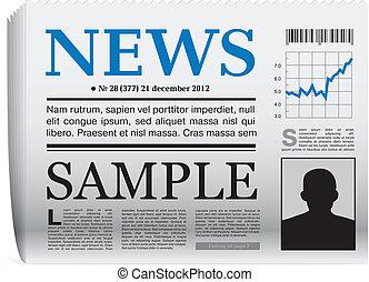 krant, vector, pictogram