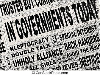 krantekoppen, regering