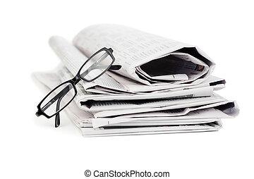 kranten, en, black , bril
