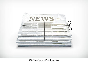 kranten, stapel