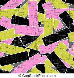 kras, gescheurd, pattern., seamless, textuur, papier, vector