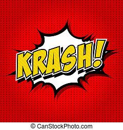 krash! - Comic Speech Bubble. - Comic Speech Bubble,...