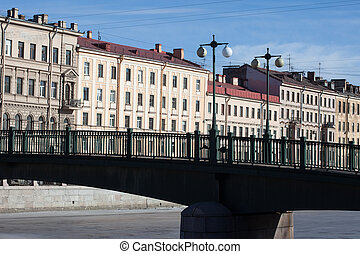 Krasnoarmeisky bridge over Fontanka river Saint Petersburg, Russia