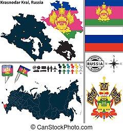Krasnodar Krai, Russia - Vector map of Krasnodar Krai with ...