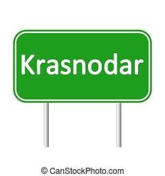 Krasnodar road sign. - Krasnodar road sign isolated on white...