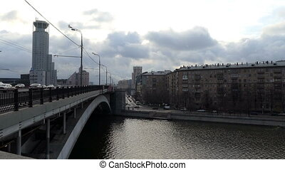 Krasnokholmsky Bridge in Moscow in Winter