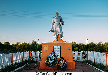 Krasnyy Partizan, Dobrush District, Gomel Region, Belarus. Monument To Heroes Who Died In Battles For Liberation Of Gomel Region At Great Patriotic War