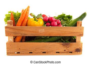 krat, groentes