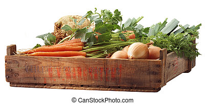 krat, van, groentes