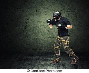 krav maga fighter
