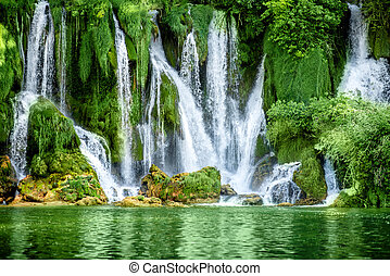 Kravica waterfall - Beautiful view on Kravica waterfall in...