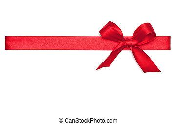 krawat, czerwona wstążka