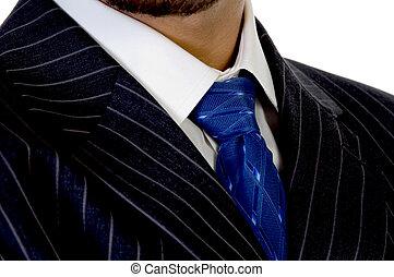 krawat, executive's, do góry szczelnie