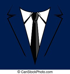 krawat, formalny, garnitur, handlowy, &