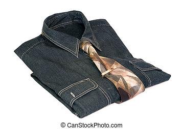 krawat, koszula, stickpin