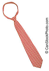 krawat, odizolowany, na białym, tło