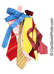 krawaty, jasny, modny