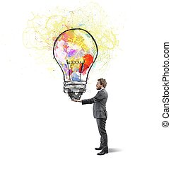 kreatív, ügy gondolat