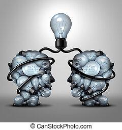 kreatív, egység, társas viszony