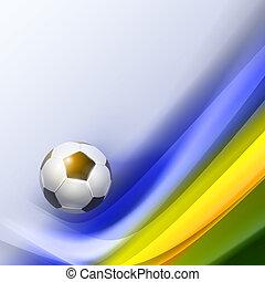 kreatív, futball, vektor, tervezés