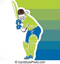 kreatív, krikett, transzparens, tervezés