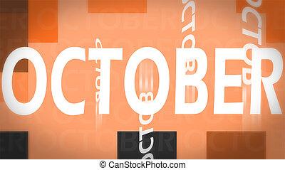 kreativ, bild, von, oktober, begriff