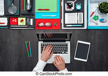 kreativ, geschäftsdesktop