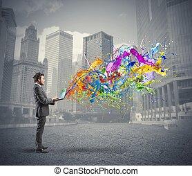 kreativ, geschaeftswelt