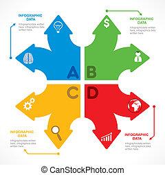 kreativ, pfeil, info-graphics
