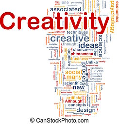 kreativitás, kreatív, háttér, fogalom