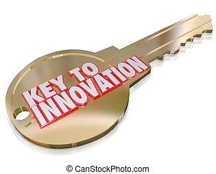 kreativität, verbesserung, einbildungskraft, schlüssel, innovation, änderung