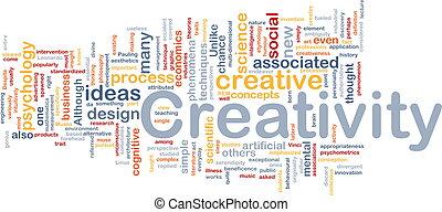 kreativitet, skapande, bakgrund, begrepp