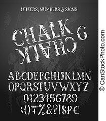 kreda, alfabet, angielski