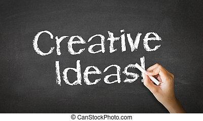 kreda, pojęcia, ilustracja, twórczy