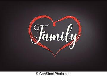 kreda, tablica, pisemny, rodzina