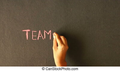 kreda, teamwork, rysunek