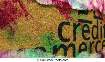 krediet, concept, grunge