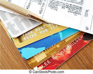 krediet, kaarten.