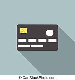 krediet, schaduw, lang, kaart