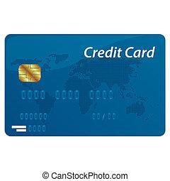 krediet, vector, kaart