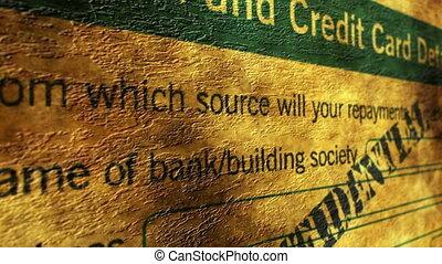 kredit, bankkarte, anwendung