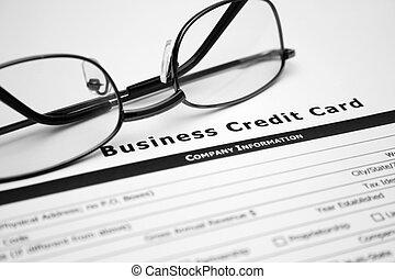 kredit, geschäftskarte