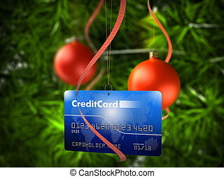 kredit, kugel, weihnachtskarte