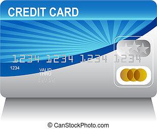 kredit, laserbeam, karte