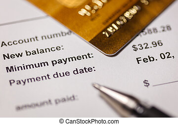 kredit, minimum, zahlung, karte